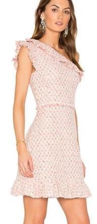 Rebecca Taylor Pink Tweed Dress