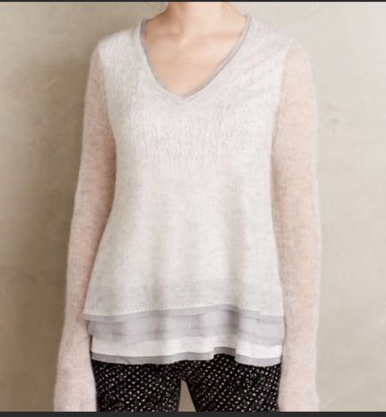 Anthropologie Knitted And Knotted Alessia Alpaca Sweater Top