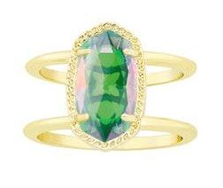 Kendra Scott Elyse Ring With Dichroic Glass Gem