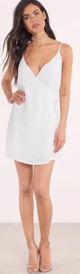 Tobi Ivory Wrap Dress
