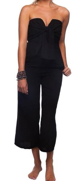 BuddyLove Black Crop Jumpsuit