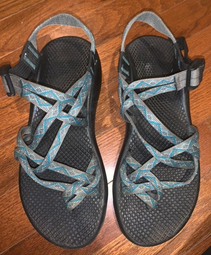 Chacos Blue And Gray