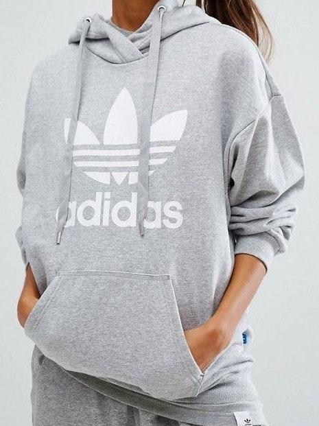 Adidas Grey Logo Hoodie
