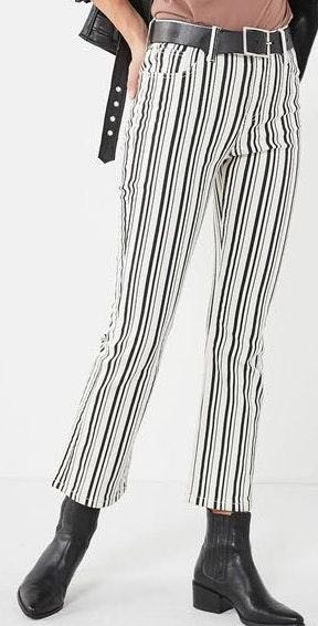 Urban Outfitters Black And White Striped Jeans