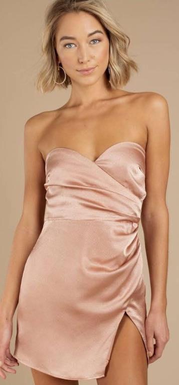 Tobi Little Pink Silk Dress