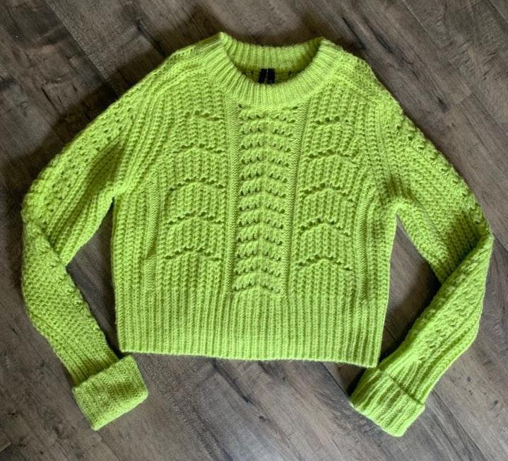 Topshop s Knit Vintage Look Sweatshirt
