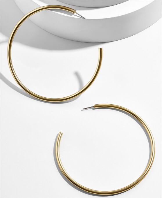 BaubleBar Gold Hoop Earrings