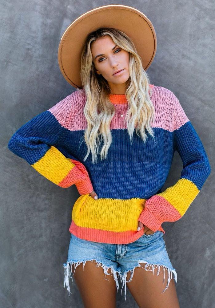 VICI Brady bunch Colorblock Knit Sweater
