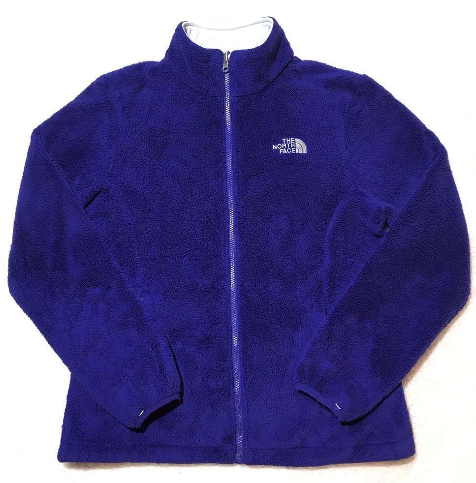 3c19e7059 The North Face Women's Blue Purple Fuzzy Fleece Zip Jacket