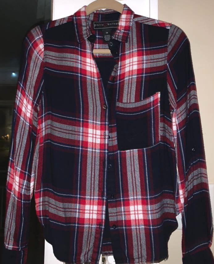 Polly & Esther Plaid Soft Flannel