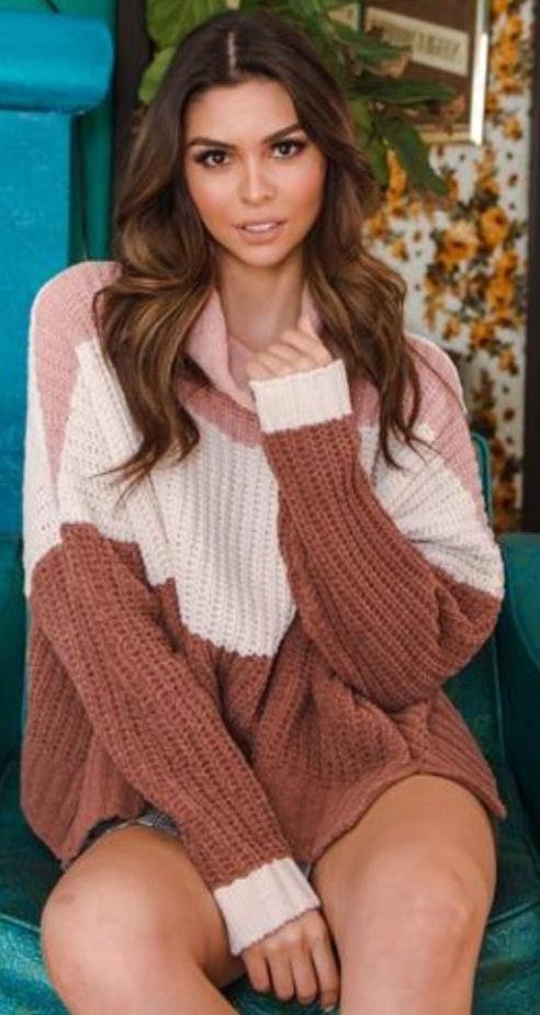Tri Color Sweater