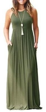 Amazon Green Maxi Dress
