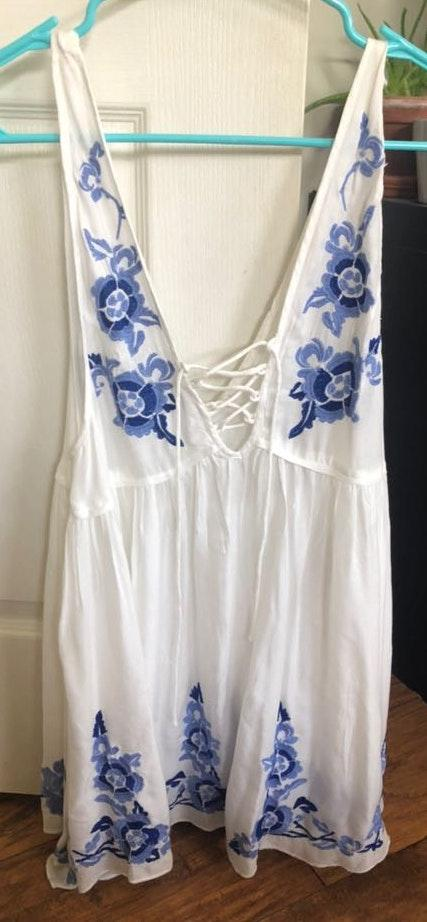 Free People Embroidered  Dress NWT