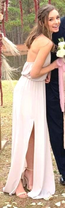 Show Me Your Mumu nude-ish long dress/bridesmaids dres
