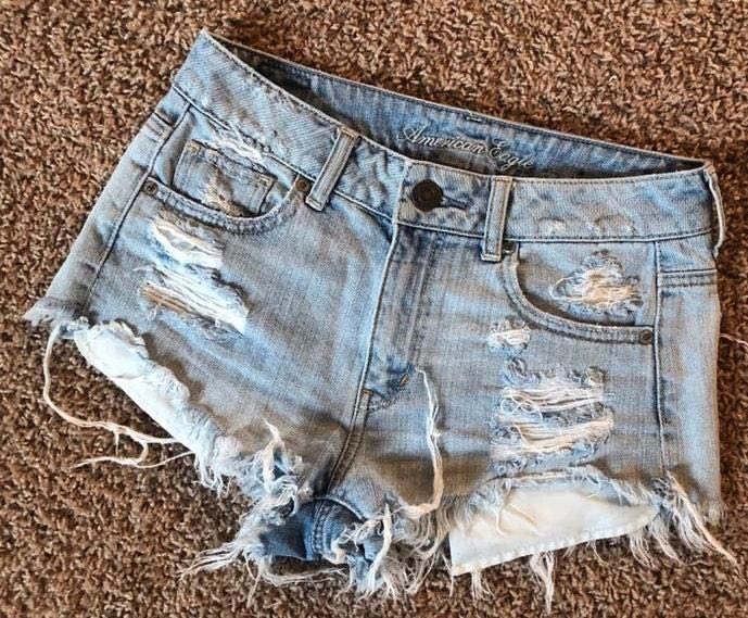 American Eagle Outfitters Low Rise Denim Shorts