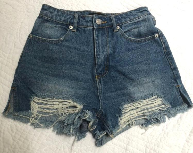 Mustard Seed High Waist Jean Shorts