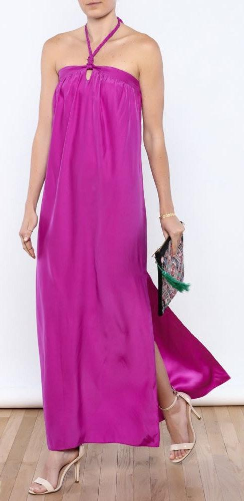 Alice & Trixie Silk Purple Long Dress