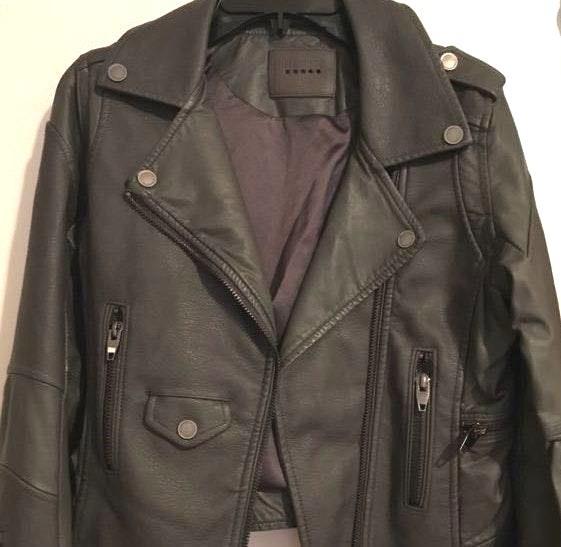 BLANK NYC BLANKNYC NWT grey faux leather jacke