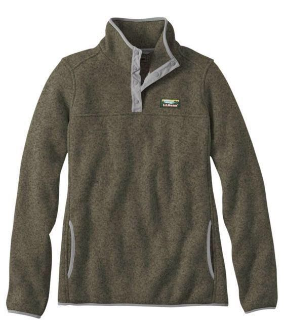"L.L.Bean LL Bean ""kelp green"" fleece pullover"