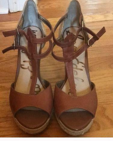 Sam Edelman Brown Wedged Sandals