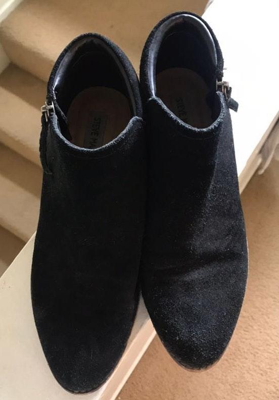 Steve Madden Suede Ankle Black Booties