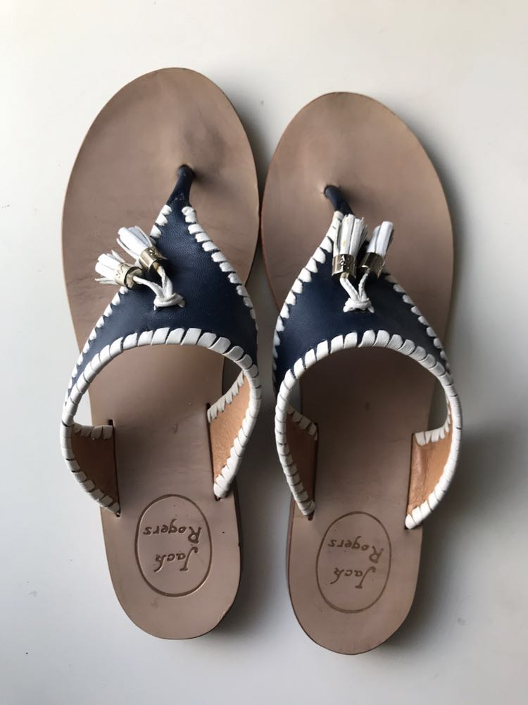 Jack Rogers Navy  With Tassels