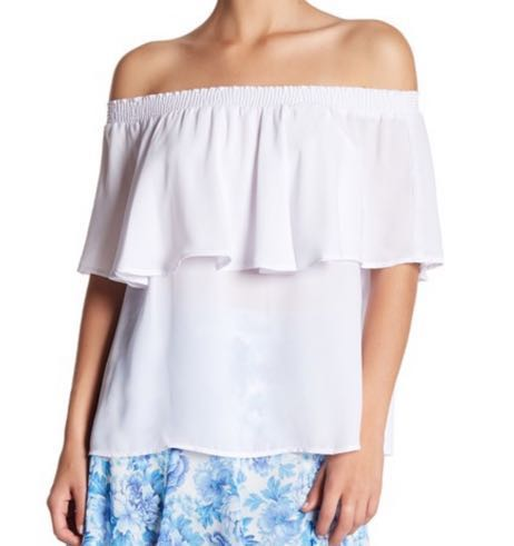 Show Me Your Mumu White Off The Shoulder Top