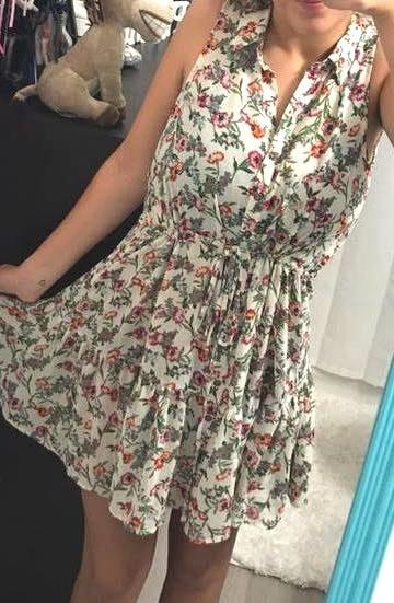 Umgee Floral Button Up Dress