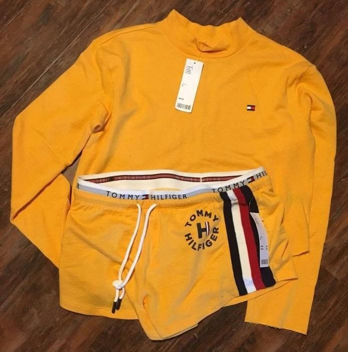 Tommy Hilfiger Yellow Shirt And Shorts