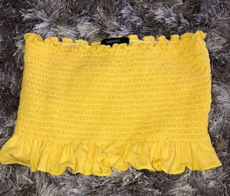 Forever 21 yellow tube top