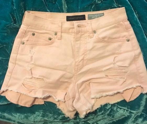 Aeropostale Pink High Waisted Shorts