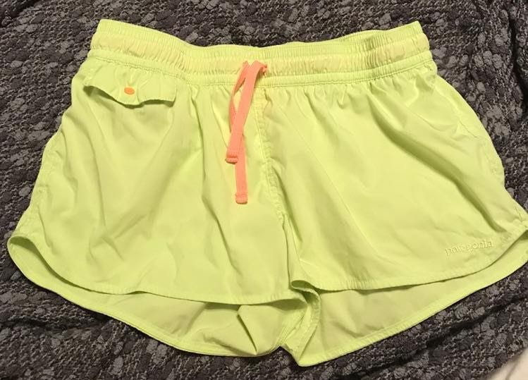 Patagonia Neon Yellow Shorts