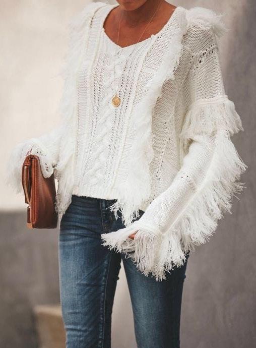 VICI White Sweater