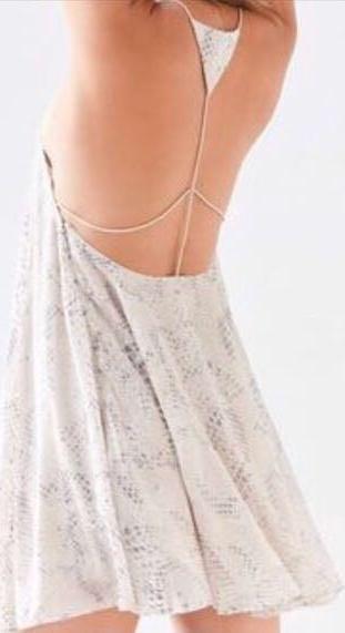 Silence + Noise Textured Tan Backless Dress