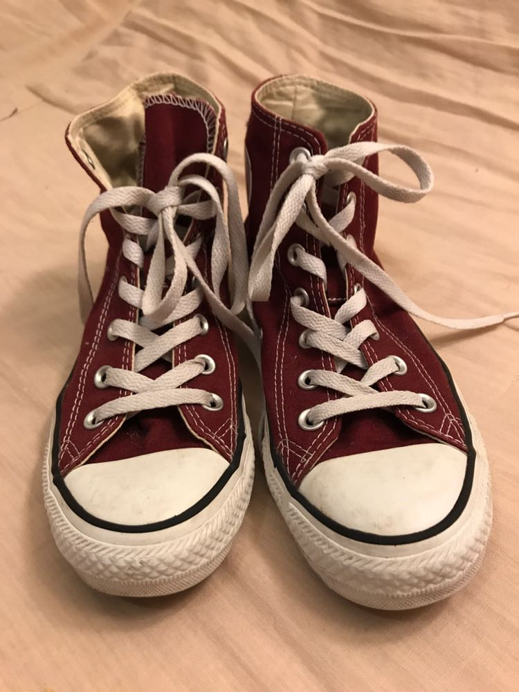 Converse Burgundy High Top