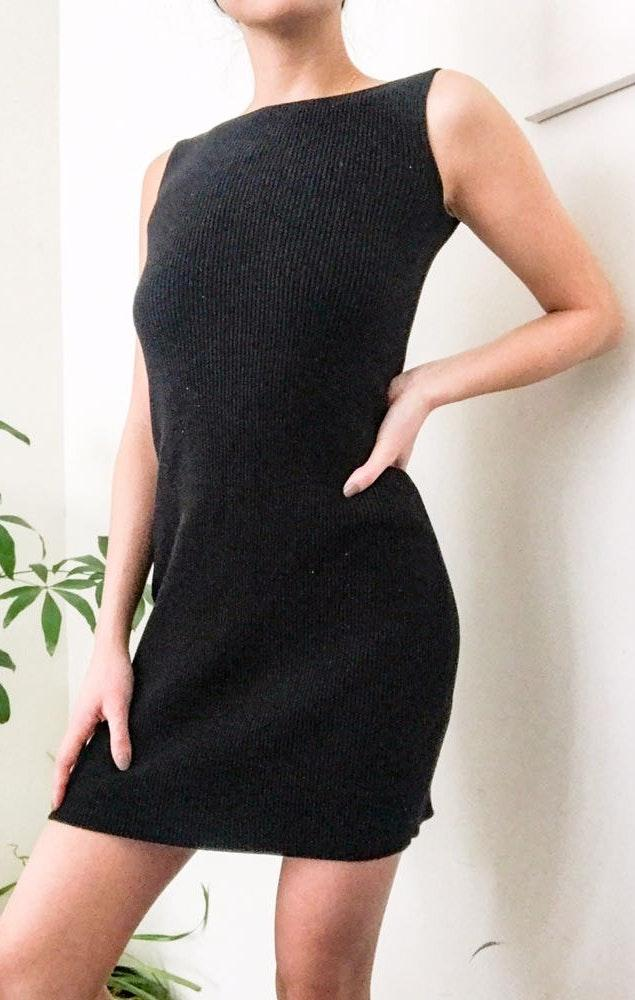 Ralph Lauren Vintage RL V-back Sweater Dress