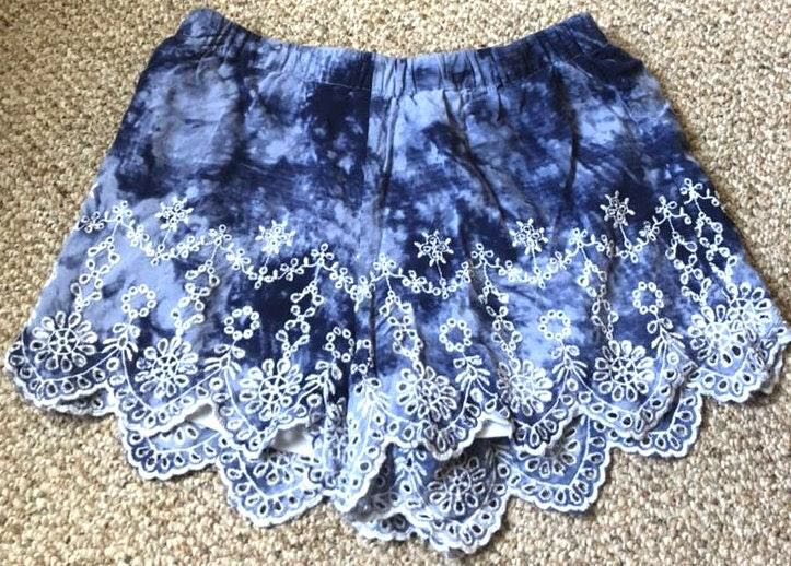 Kendall & Kylie Marble Blue Shorts
