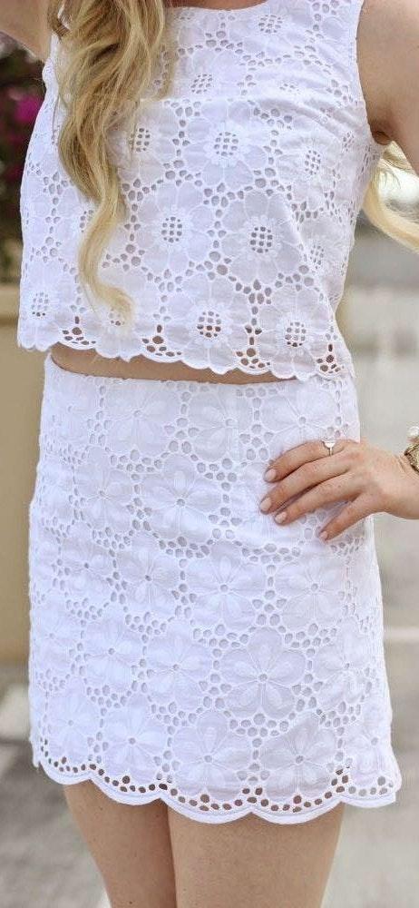 Lilly Pulitzer White Eyelet Skirt