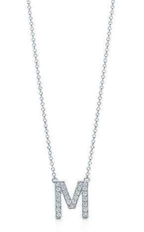 Nordstrom Diamond M Pendant