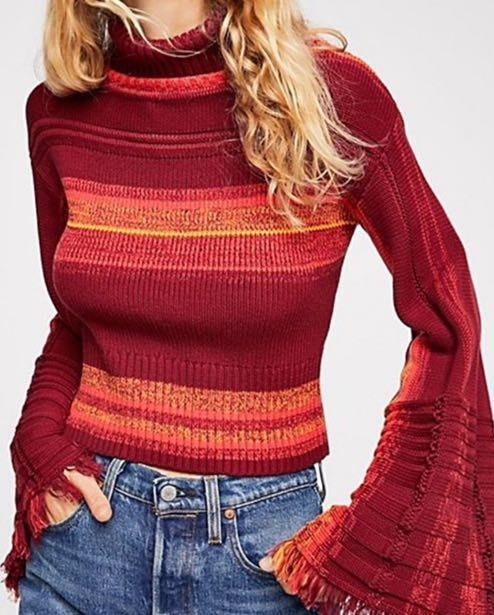 Free People ♥️ Close To Me Striped Pullover Sweater