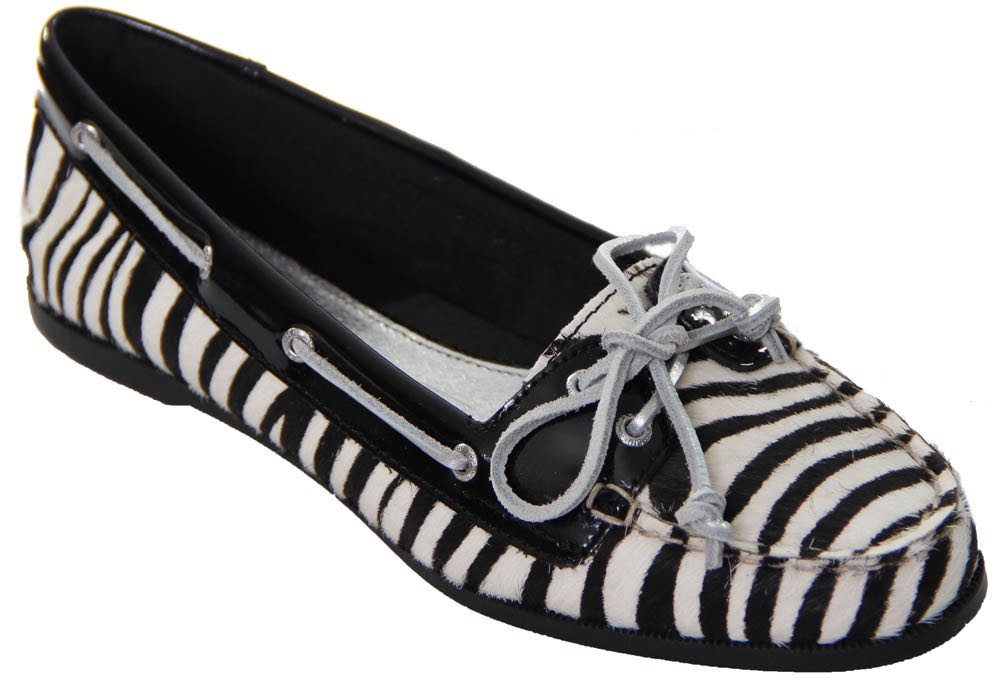 Sperry TopSider Audrey Zebra Print Shoes