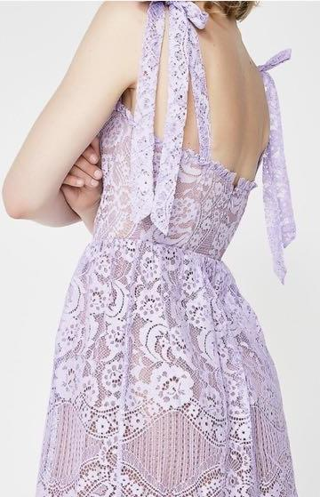 For Love & Lemons Valentina Lavender Dress
