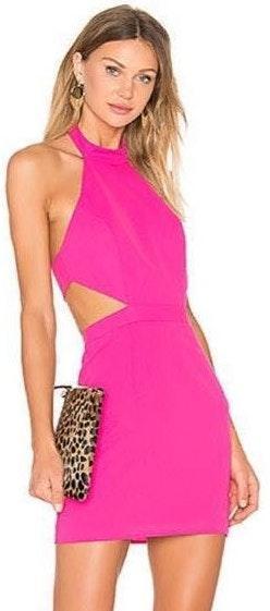 NBD Pink Cocktail Mini Dress