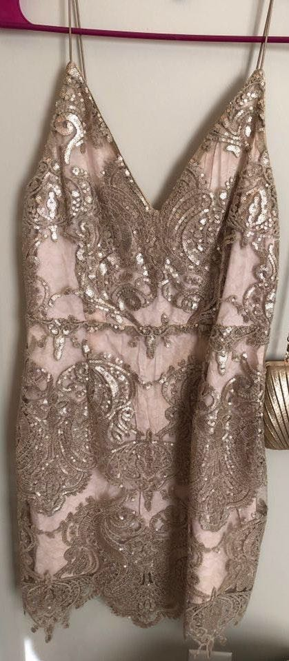 Tobi Sparkly short cocktail dress