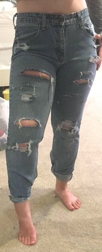 Levi's Hand Distressed Vintage Jeans