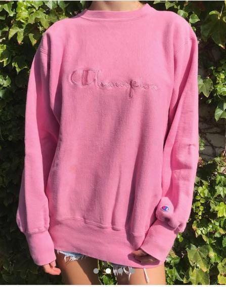 Vintage Blush Pink Champion Crewneck