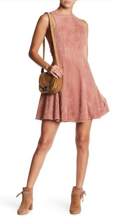 The Coverii Mauve Suede Dress