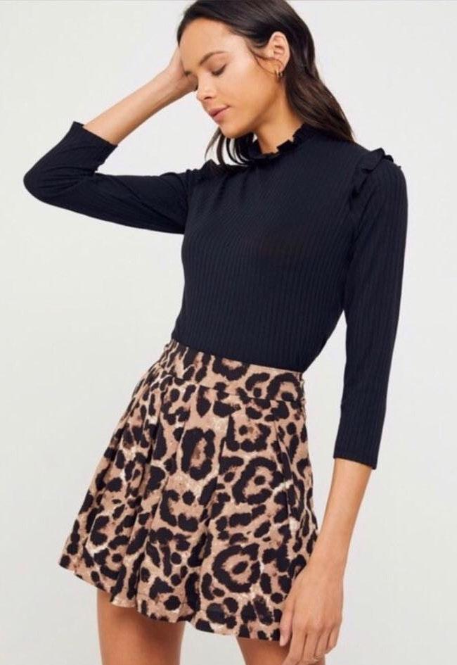 Hayden High Rise Leopard Shorts Skort