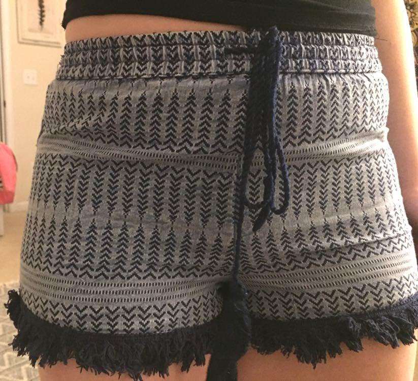 Earthbound Blue Aztec Print Shorts