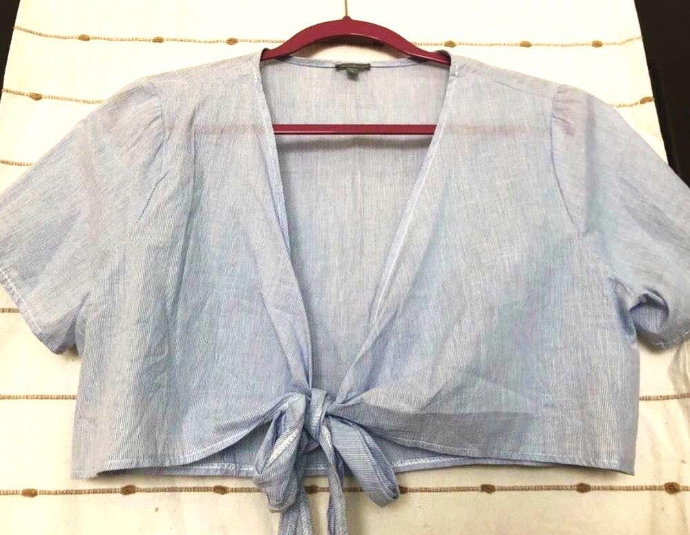 Charlotte Russe Front Tie Blouse